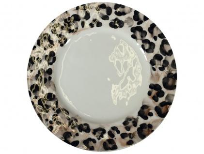 Speiseteller, Essteller, Platzteller SAFARI Leopardenmuster 32cm Virginia Casa