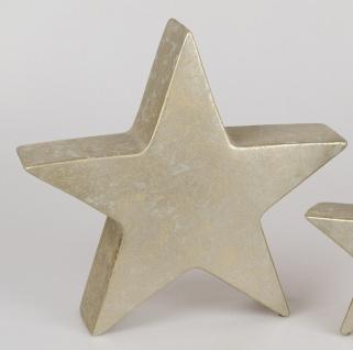 Dekoobjekt STAR Stern RUSTIK H. 37, 5cm champagner gold Keramik Formano W19