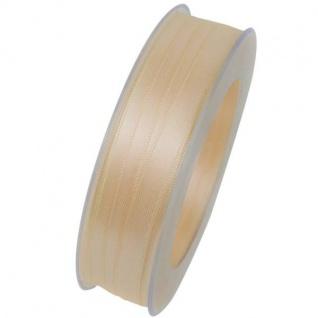 Doppelsatin Stoffband Schleifenband 10mm (1m=0, 20EUR) creme 25m Rolle Goldina