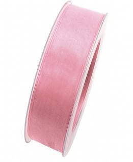 Organzaband mit formstablier Kante 25mm rosa 20m Rolle (1m=0, 40EUR) Goldina