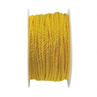 Kordelband, Atlaskordel, Seil gedreht 3mm gold 25m Rolle (1m=0, 20EUR) Goldina