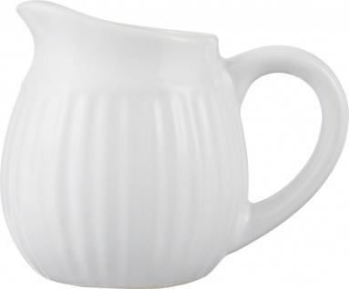 Milchkännchen MYNTE Pure White weiß Steingut 12x9x10cm Ib Laursen