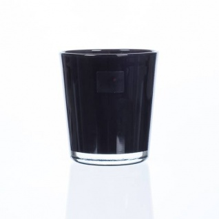 6er Set Glas Orchideentöpfe ORCHID schwarz H. 13, 5cm D. 12, 5cm Sandra Rich