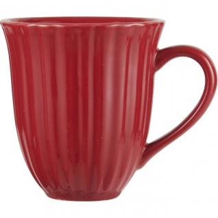 Kaffeebecher, Tasse STRAWBERRY rot für 300ml H. 10cm Steingut Ib Laursen