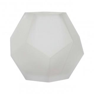 Vase JOOLZ Glas, Mattweiß, Ø 16cm H 13, 5cm, Rudolph Keramik