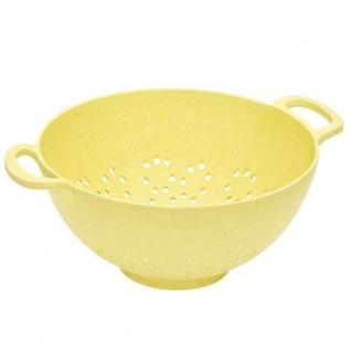 Salatseiher, Nudelsieb gelb Ø 23cm Bambus Magu NATUR DESIGN