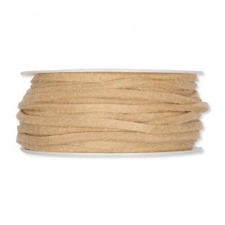 Filzband, Schleifenband (1m = 0, 13EUR) Dekoband beige 4mm 15m Rolle Halbach