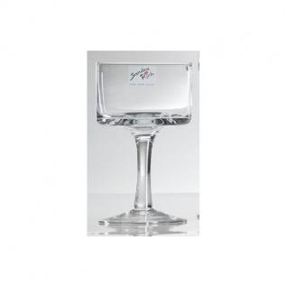 6er SET Kerzenhalter, Teelichthalter auf Fuß Glas H. 15cm D. 9cm Sandra Rich