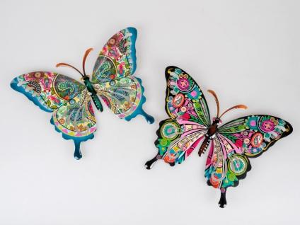 2er Set Wanddeko Schmetterlinge COLORS B. 36cm bunt aus Metall Formano F21