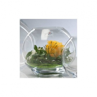 6er Set Kugelvasen Teelichthalter GLOBE KUGEL Glas H. 13, 5cm D. 14cm Sandra Rich
