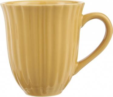 Kaffeebecher, Tasse MYNTE Mustard gelb für 300ml Steingut Ib Laursen