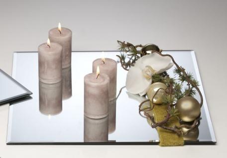 6er Set Spiegelplatten, Deko Tischspiegel 40x40cm Glas quadratisch Sandra Rich