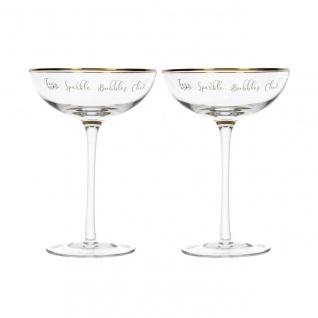2er Set Champgner Gläser, Sektschalen Ava & I 200ml Glas Kitchen Craft