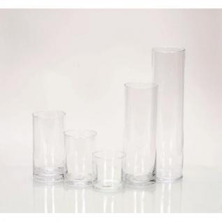 20er SET Dekogläser Vasen ZYLINDER H. 40cm Ø 10cm Glas klar Rudolph Keramik - Vorschau 2