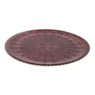 Dekoteller, Glasplatte COLET M lila D. 24, 5cm H. 1, 3cm Decostar WA