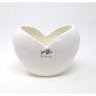 4er Set Vasen HEART HERZ weiß H. 11cm 15x9cm Porzellan Sandra Rich