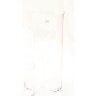 Dekoglas Vase ZYLINDER H. 50cm Ø 19cm Glas klar rund Rudolph Keramik