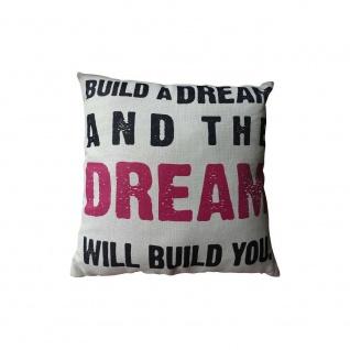Kissen mit Füllung DREAM 45x45cm schwarz weiß Baumwolle Polyester My Flair