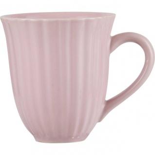 Kaffeebecher, Tasse ENGLISH ROSE rosa für 300ml H. 10cm Steingut Ib Laursen