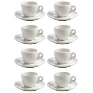 8er SET Espressotassen WHITE BASICS ROUND H. 5, 5cm weiß Maxwell & Williams