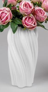 Deko Vase SPIRALE H. 30cm weiß Keramik Formano
