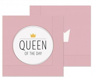 20er Pack Papierservietten QUEEN OF THE DAY 33x33cm rosa Kitchen La Vida