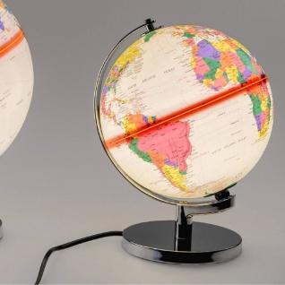 Dekoobjekt, Lampe Globus H. 20cm mit Licht creme bunt Formano WA