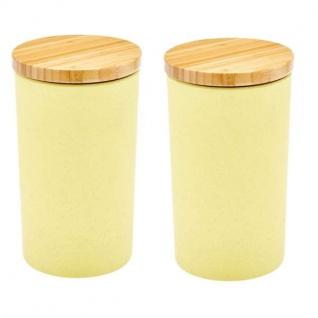 2er SET Vorratsdosen gelb Bambus H 19, 5cm 1300ml Magu NATUR DESIGN