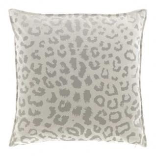 Kissen mit Füllung NALA LEO Muster 45x45cm pebble creme grau Unique Living