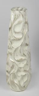 Bodenvase WELLEN konisch rund H. 72cm creme gold Keramik Formano