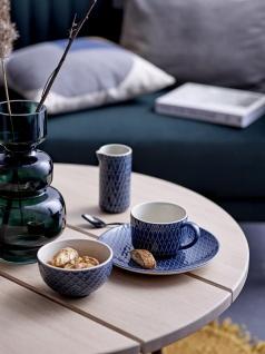 Tasse, Becher Naomi 3 blau weiß D. 9, 5cm H. 6, 5cm 300ml Keramik Bloomingville WA - Vorschau 2