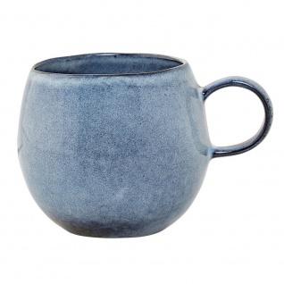 Tasse, Becher SANDRINE blau für 500ml D. 10, 5cm H.9cm rund Keramik Bloomingville