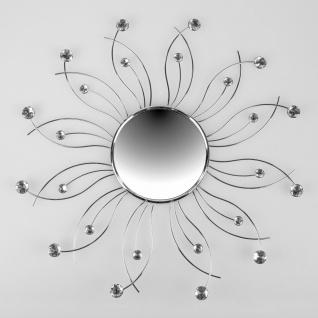 Wandspiegel, Wanddeko MIRROR CHROM D. 52cm aus Metall+ Acryl Formano
