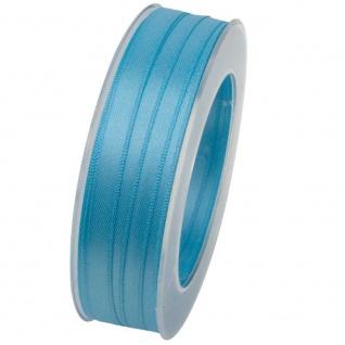 Doppelsatin Stoffband Schleifenband 10mm (1m=0, 20EUR) hellblau 25m Rolle Goldina