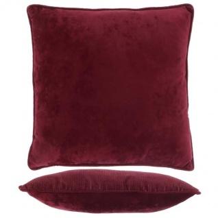 Kissen mit Füllung FREY 45x45cm tawny port rot Unique Living