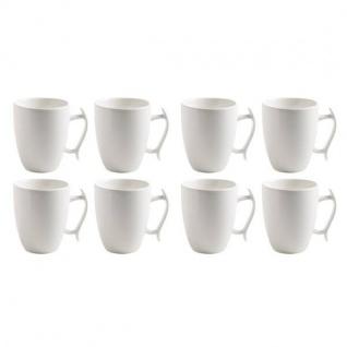 8er SET Becher, Tassen MOTION für 330ml rund weiß Porzellan Maxwell & Williams