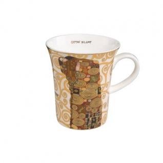 Gustav Klimt Becher, Tasse DIE ERFÜLLUNG H. 11cm 400ml Goebel Porzellan