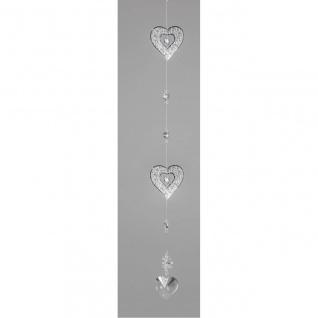 Deko Hänger, Girlande HERZEN L. 60cm Metall + Kristallglas Formano