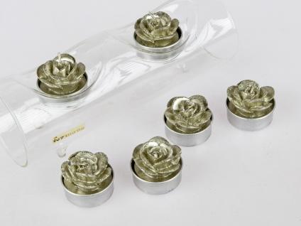 6er Pack Teelichter Rosen champagner gold Formano W20