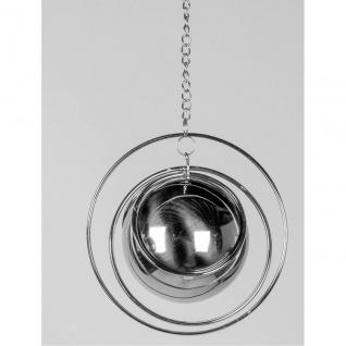 Deko Hänger BALL D. 13cm Spirale mit Kugel silber Metall Formano F20