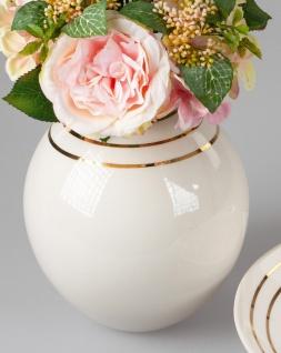 Deko Vase GOLDLINE H. 22cm creme weiß gold Keramik Formano