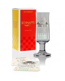 Ritzenhoff SCHNAPPS Schnapsglas, Pinnchen Thinking about Frank Keller 2019