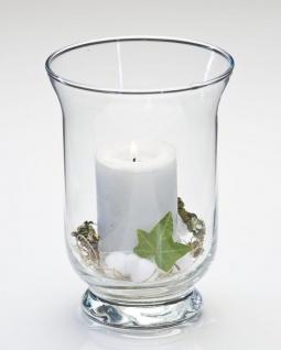 6er SET Windlichter, Dekogläser HURRICANE PROMO, Glas, H 19cm Ø 13cm Sandra Rich