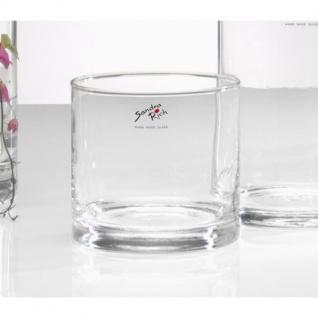 Glasvase, Dekoglas CYLI H. 10cm D. 10cm zylindrisch Glas rund Sandra Rich