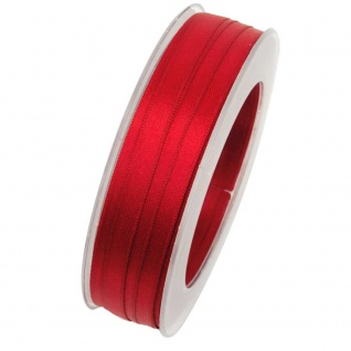 Doppelsatin Stoffband Schleifenband 10mm (1m=0, 20EUR) rot 25m Rolle Goldina