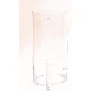 Dekoglas Vase ZYLINDER H. 50cm Ø 25cm Glas klar rund Rudolph Keramik