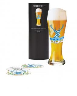 Ritzenhoff WEIZEN Weizenbierglas, BEER LOVER mit Bierdeckeln Dominique Tage 2019