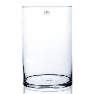 Glasvase, Dekoglas CYLI Glas zylindrisch rund H. 30cm D. 19cm klar Sandra Rich