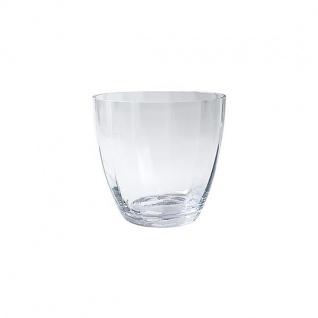 Glasvase Blumenschale 15,5cm Ø 38cm Glas klar Jodeco WA Dekoglas DISCUS H
