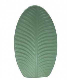 Deko Vase BANANA LEAF Blatt large oval grün H. 30cm 19x7cm Keramik Sandra Rich W